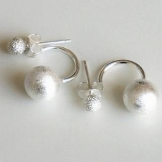 ~米蘭 ~耳環 銀飾品耳針式耳飾^(小圓球 優雅氣質母親節生日情人節 2款73ag324^