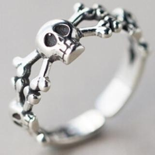 【米蘭精品】戒指流行銀飾品(骷髏造型獨特流行百搭母親節生日情人節禮物73ae9)