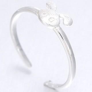 【米蘭精品】戒指流行銀飾品(小兔子造型可愛迷人流行母親節生日情人節禮物73ae30)