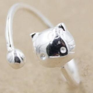 【米蘭精品】戒指流行銀飾品(貓咪造型可愛迷人流行母親節生日情人節禮物73ae69)