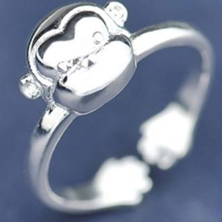 【米蘭精品】戒指流行銀飾品(猴子造型可愛迷人流行母親節生日情人節禮物73ae92)