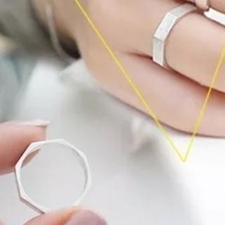 【米蘭精品】戒指流行銀飾品(菱形造型獨特吸睛韓國流行母親節生日情人節禮物73ae117)