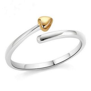 【米蘭精品】戒指流行銀飾品(愛心造型時尚迷人百搭母親節生日情人節禮物73ae128)
