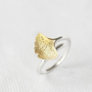 【米蘭精品】戒指流行銀飾品(葉子造型精緻優雅流行七夕情人節生日禮物73ae167)