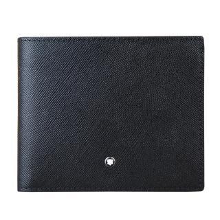 【萬寶龍MONTBLANC】Sartorial匠心系列8卡防刮牛皮對折短夾(黑色)