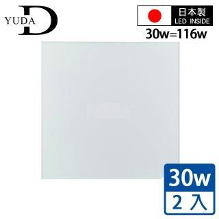 【YUDA 悠達】日本製日亞化LED輕鋼架平板燈(無邊框二入)
