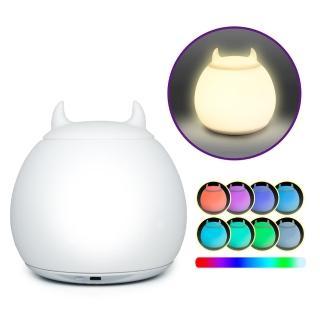 療癒系 USB充電式 頑皮小惡魔造型彩色夜燈