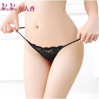 【BoBo女人香】法式典雅刺繡蕾絲性感內褲-低腰丁字褲-C231-5(巧克力黑)