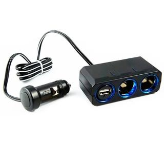 【日本YAC】12V延長線兩孔附USB插座PZ-610(luxgen納智捷 hyundai現代 MAZDA馬自達 toyota 豐田)