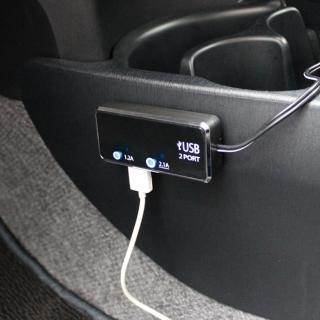 ~ YAC~雙USB車用充 TP~171^(luxgen納智捷 hyundai honda