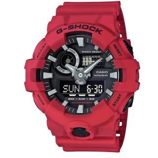 【CASIO G-SHOCK】絕對悍將潮流運動錶款(GA-700-4ADR)