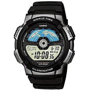 【CASIO】飛行時光地圖錶(AE-1100W-1A)