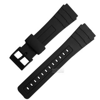 【Watchband】舒適耐用輕便運動型(橡膠錶帶 黑色)