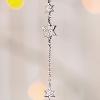 ~米蘭 ~鑲鑽項鍊銀飾品^(六芒星 唯美 母親節生日情人節 73y57^)