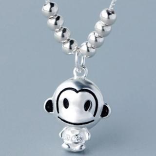 【米蘭精品】項鍊銀飾品(小猴子造型時尚可愛百搭母親節生日情人節禮物73y76)