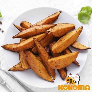 【極鮮配】帶皮原塊調味薯條-契型(300g±10%/包-8包)   極鮮配