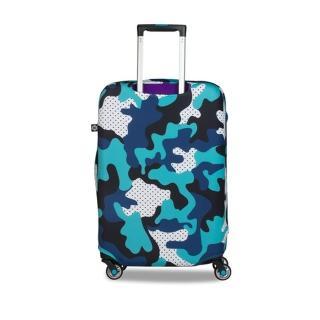 【BG Berlin】行李箱套-藍迷彩 S(適用17-21吋行李箱)