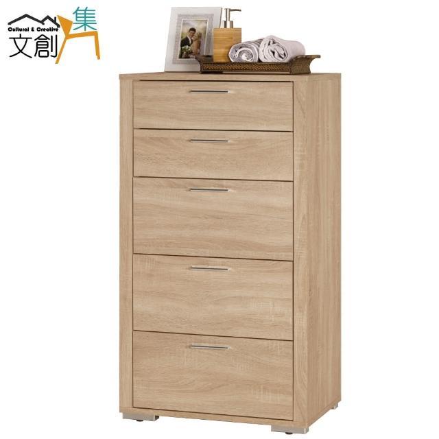 【文創集】羅德比  時尚2尺橡木紋五斗櫃-收納櫃