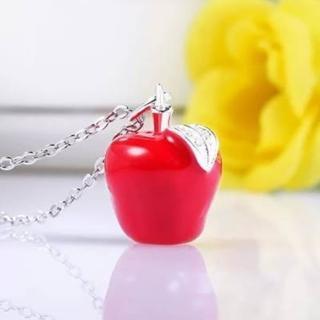 【米蘭精品】項鍊流行銀飾品(紅蘋果聖誕平安夜小母親節生日情人節禮物2色73v38)