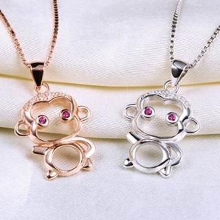 【米蘭精品】猴子項鍊流行銀飾品(簡約可愛母親節生日情人節禮物73v68)