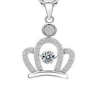 【米蘭精品】皇冠項鍊流行銀飾品(皇冠精緻可愛母親節生日情人節禮物73v81)