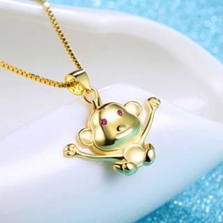 【米蘭精品】猴子項鍊流行銀飾品(開心精美大方母親節生日情人節禮物73v108)