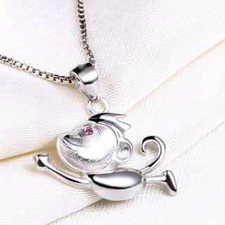 【米蘭精品】猴子項鍊流行銀飾品(創意可愛動物母親節生日情人節禮物73v151)