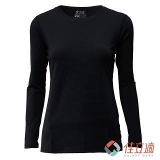 【3M-佳立適】升溫蓄熱保暖衣-女圓領-黑