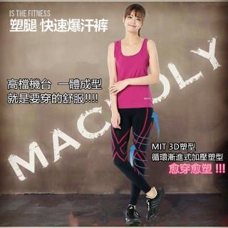 【Macpoly】女3D 塑型超彈壓力褲(塑型 爆汗  壓力褲  運動 健走 慢跑)