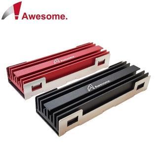 【Awesome】M.2 SSD NGFF 2280散熱片-紅/黑(AWD-MCS01)