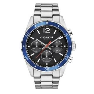 【COACH】經典計時紳仕腕錶/黑/44mm(14602084)
