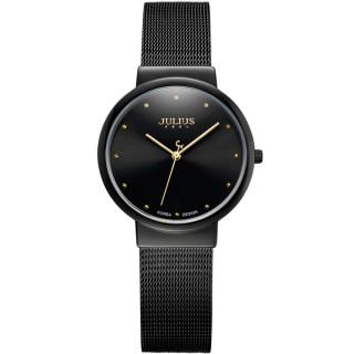 【JULIUS】淬鍊風華簡約不銹鋼米蘭帶腕錶(三色/30mm)