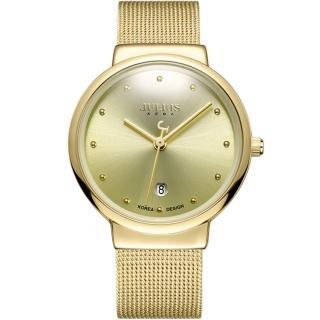【JULIUS】淬鍊風華簡約不銹鋼米蘭帶腕錶(三色/38mm)