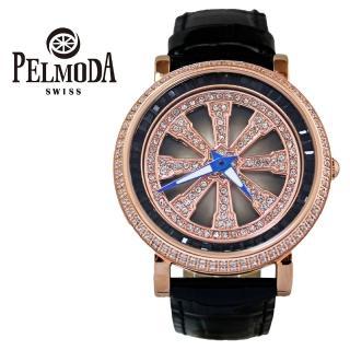 【百慕達】時來運轉玫瑰金黑色錶盤T字鑽(旋轉錶)