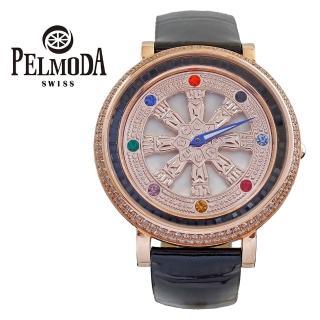 【百慕達】時來運轉玫瑰金白色錶盤T字鑽(旋轉錶)