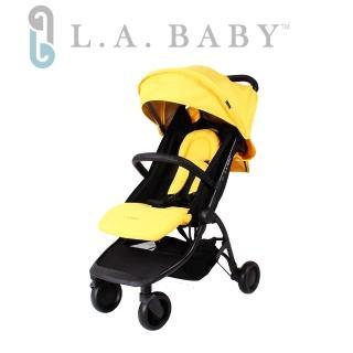 【L.A BABY 美國加州貝比】旅行摺疊嬰兒手推車(黃色)