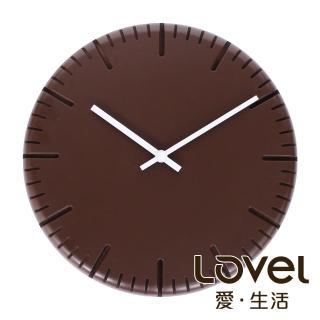 【LOVEL】choco biscuit靜音機芯掛鐘(W300L-BR)
