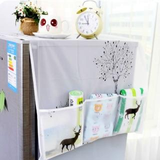 【Bunny】防水透明印花冰箱收納掛袋防塵罩