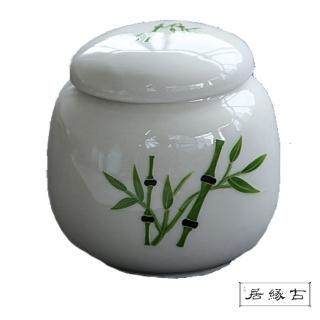【古緣居_12H】陶瓷密封一兩小茶罐(節節高升)