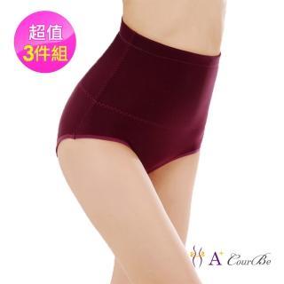【A+Courbe】380高丹日式超彈力太空棉爆熱凸擊高腰塑身褲(熱銷3件組)
