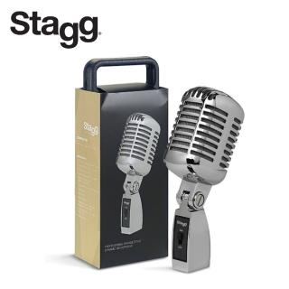【Stagg 比利時品牌】動圈式 復古麥克風(SDM100CR)