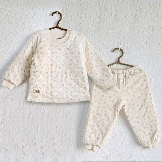 【Azure Canvas藍天畫布】100%有機棉 幼兒鋪棉長袖套裝(鋪棉居家服)