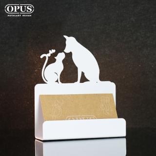 【OPUS東齊金工】歐式鐵藝名片座/高級名片架/名片夾/金屬商務名片盒(CAdo06w 寵愛_優雅白)
