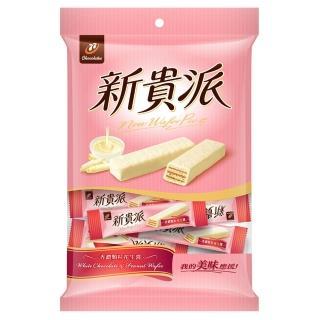 【宏亞食品】77迷你新貴派巧克力-花生白巧克力(160g)