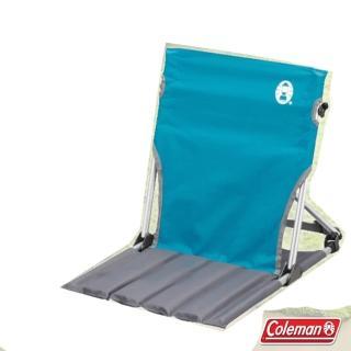 【美國 Coleman】摺疊緊湊地板休閒椅.折疊椅.太師椅.露營椅.帳蓬導演椅(CM-7672J 天空藍)