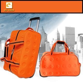 【US DUCK】尼龍拉桿旅行袋/可提/可拖/可拉(UN-2007)