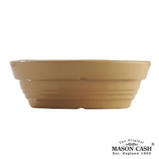 【MASON】浮雕陶瓷橢圓烤派盤18CM(黃)