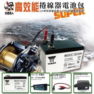【CSP進煌】電動捲線器專用電池 含配件、專屬背肩包(HI-POWER、DAIWA、MIYA 適用)