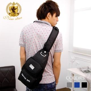 【NEW STAR】運動風尼龍單肩背包 BK18(側背包 後背包)