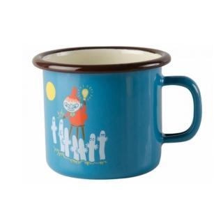 【芬蘭Muurla】嚕嚕米系列-復古小不點琺瑯馬克杯250cc-藍色(咖啡杯/琺瑯杯)